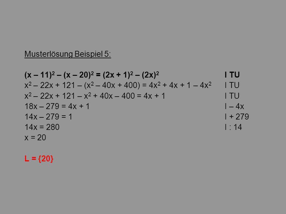 Musterlösung Beispiel 5:
