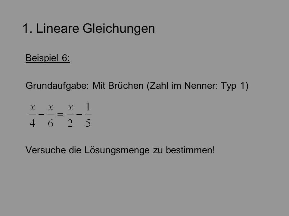 1. Lineare Gleichungen Beispiel 6: