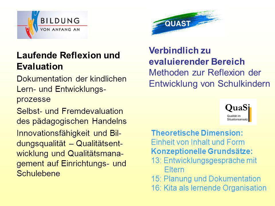 Laufende Reflexion und Evaluation