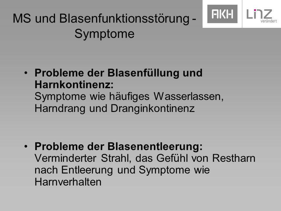 MS und Blasenfunktionsstörung - Symptome