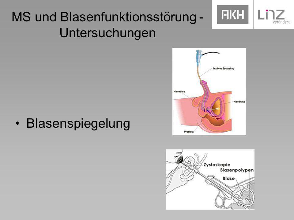 MS und Blasenfunktionsstörung - Untersuchungen