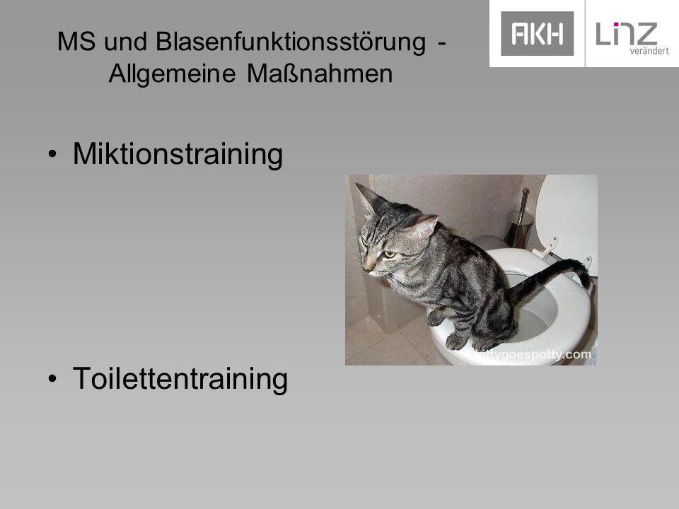 MS und Blasenfunktionsstörung - Allgemeine Maßnahmen
