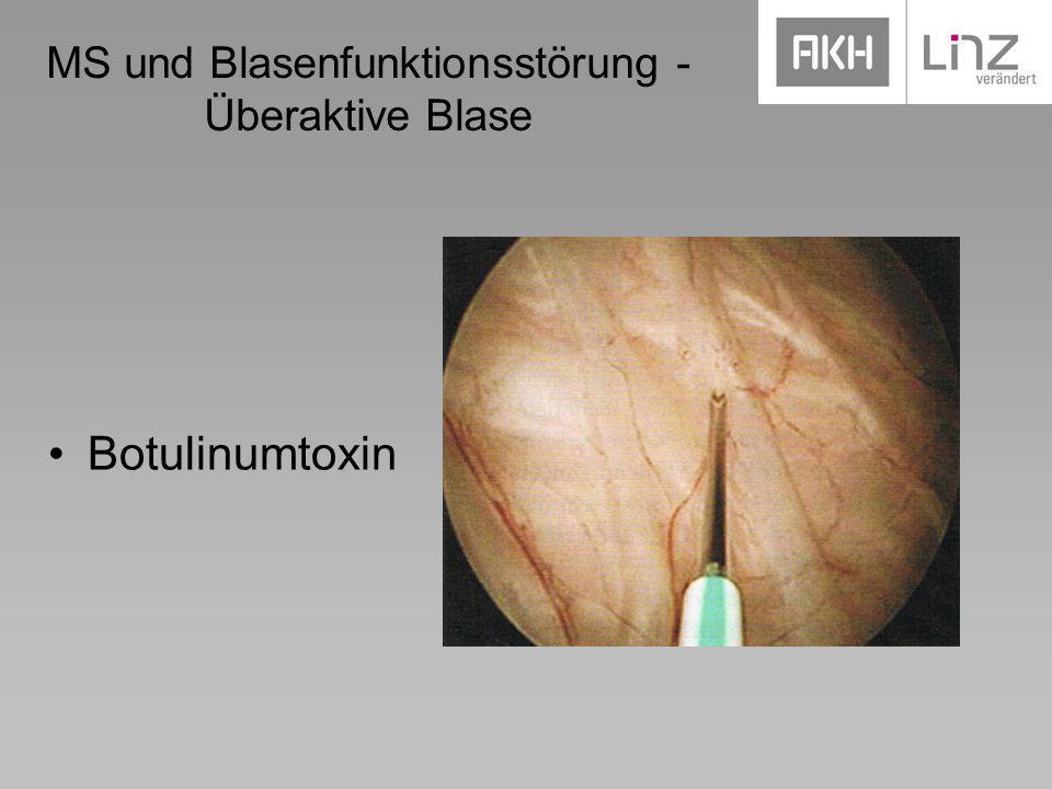 MS und Blasenfunktionsstörung - Überaktive Blase