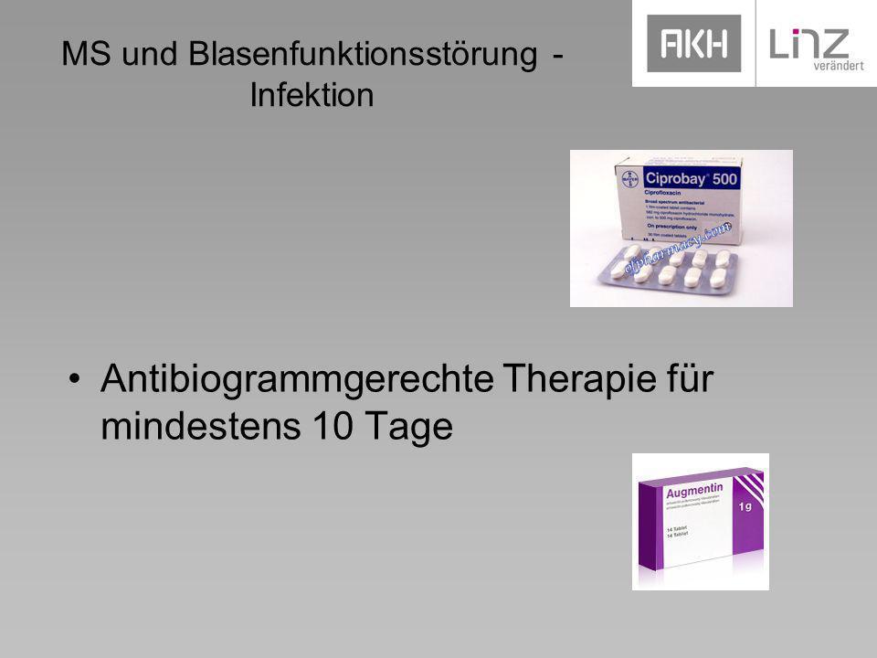 MS und Blasenfunktionsstörung - Infektion