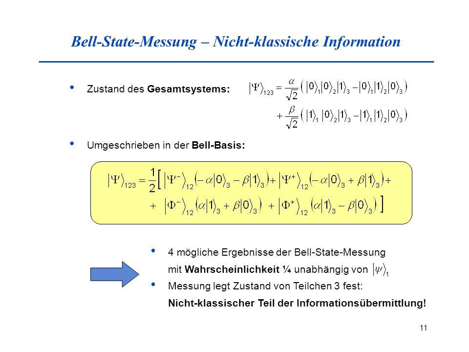 Bell-State-Messung – Nicht-klassische Information