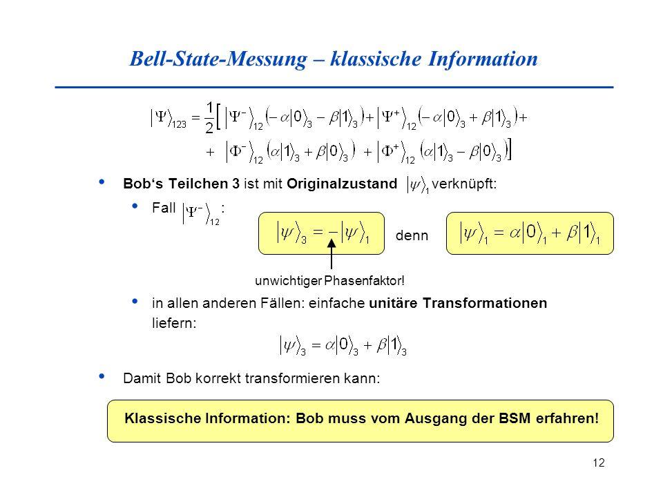 Bell-State-Messung – klassische Information