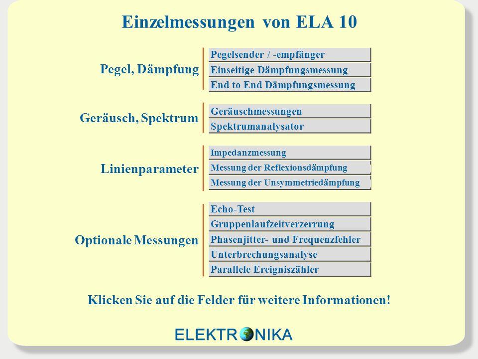 Einzelmessungen von ELA 10