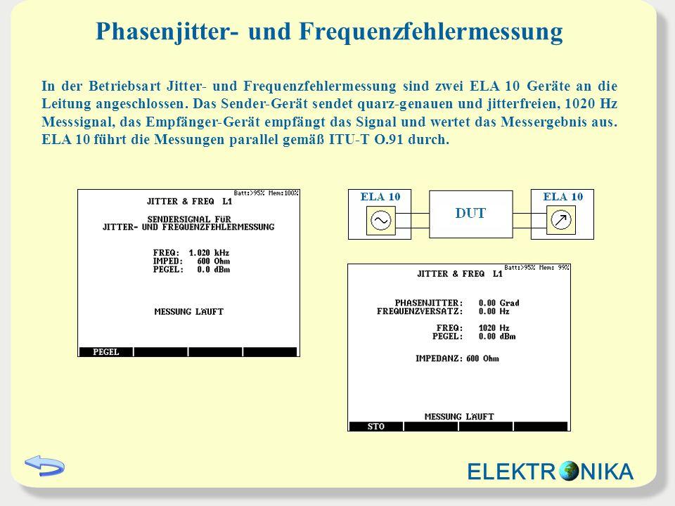 Phasenjitter- und Frequenzfehlermessung
