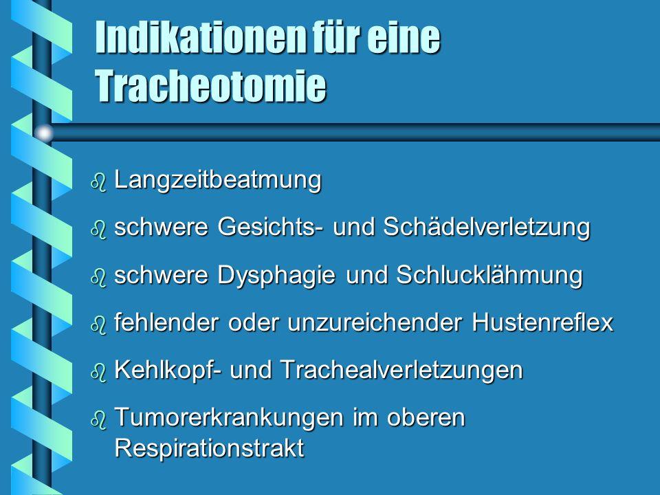 Indikationen für eine Tracheotomie