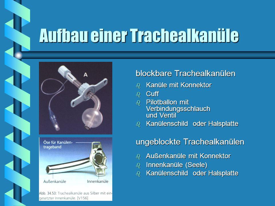 Aufbau einer Trachealkanüle