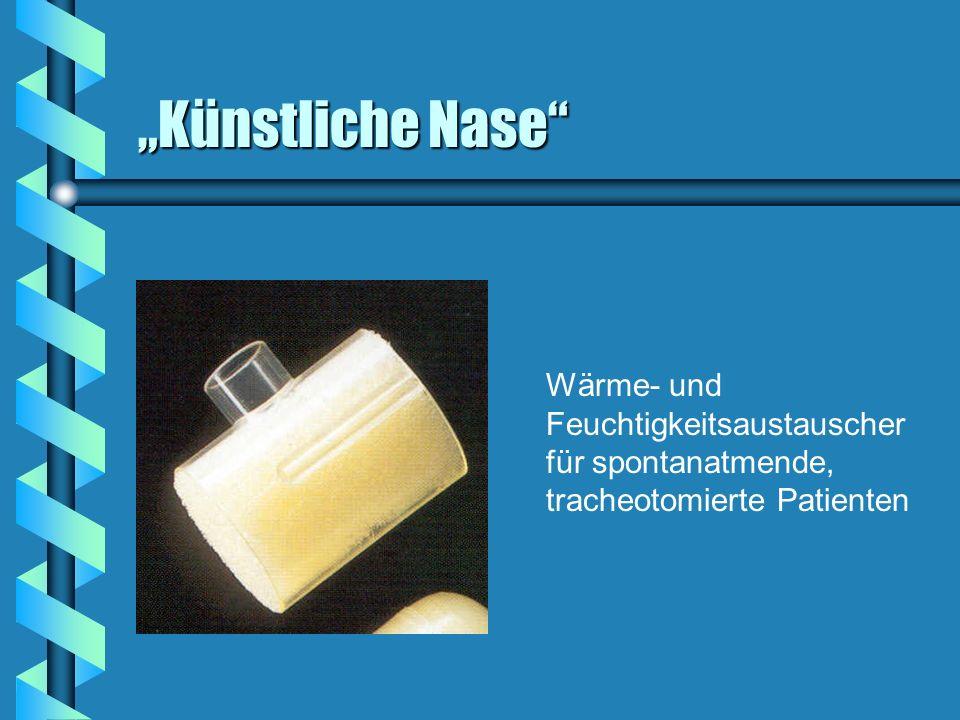 """""""Künstliche Nase Wärme- und Feuchtigkeitsaustauscher für spontanatmende, tracheotomierte Patienten"""