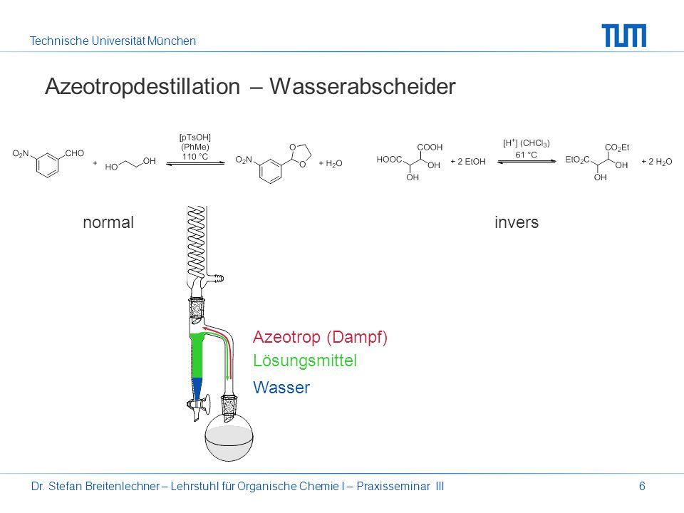 Azeotropdestillation – Wasserabscheider