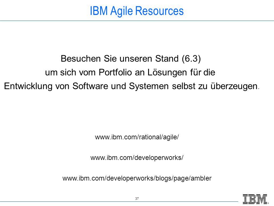 IBM Agile Resources Besuchen Sie unseren Stand (6.3)