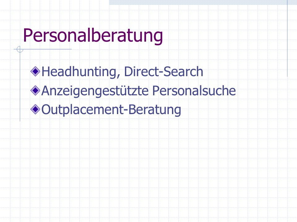 Personalberatung Headhunting, Direct-Search
