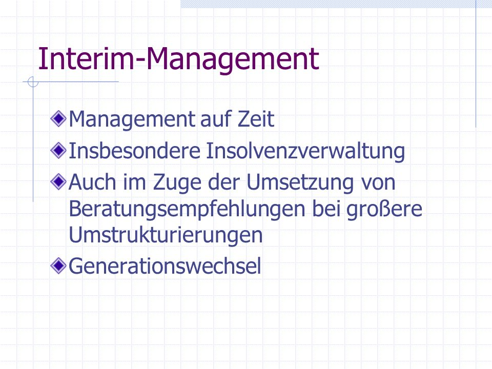 Interim-Management Management auf Zeit