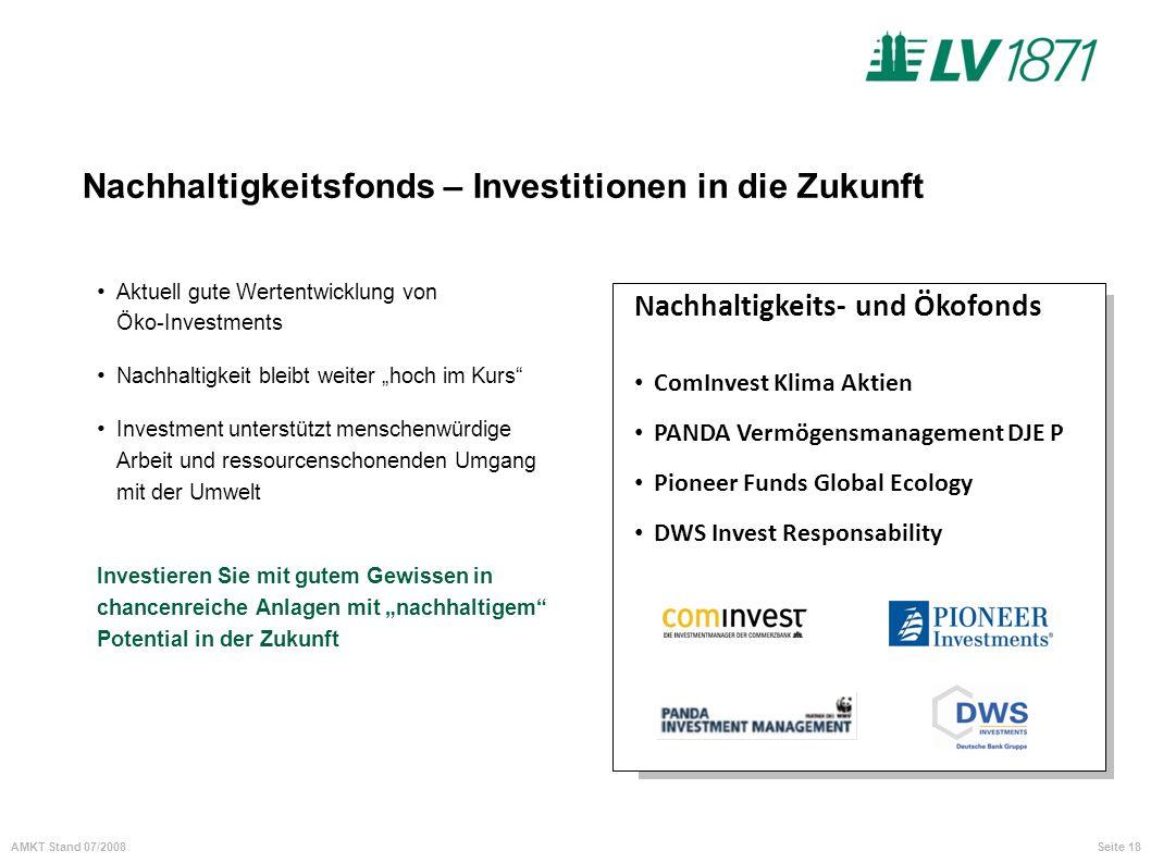 Nachhaltigkeitsfonds – Investitionen in die Zukunft