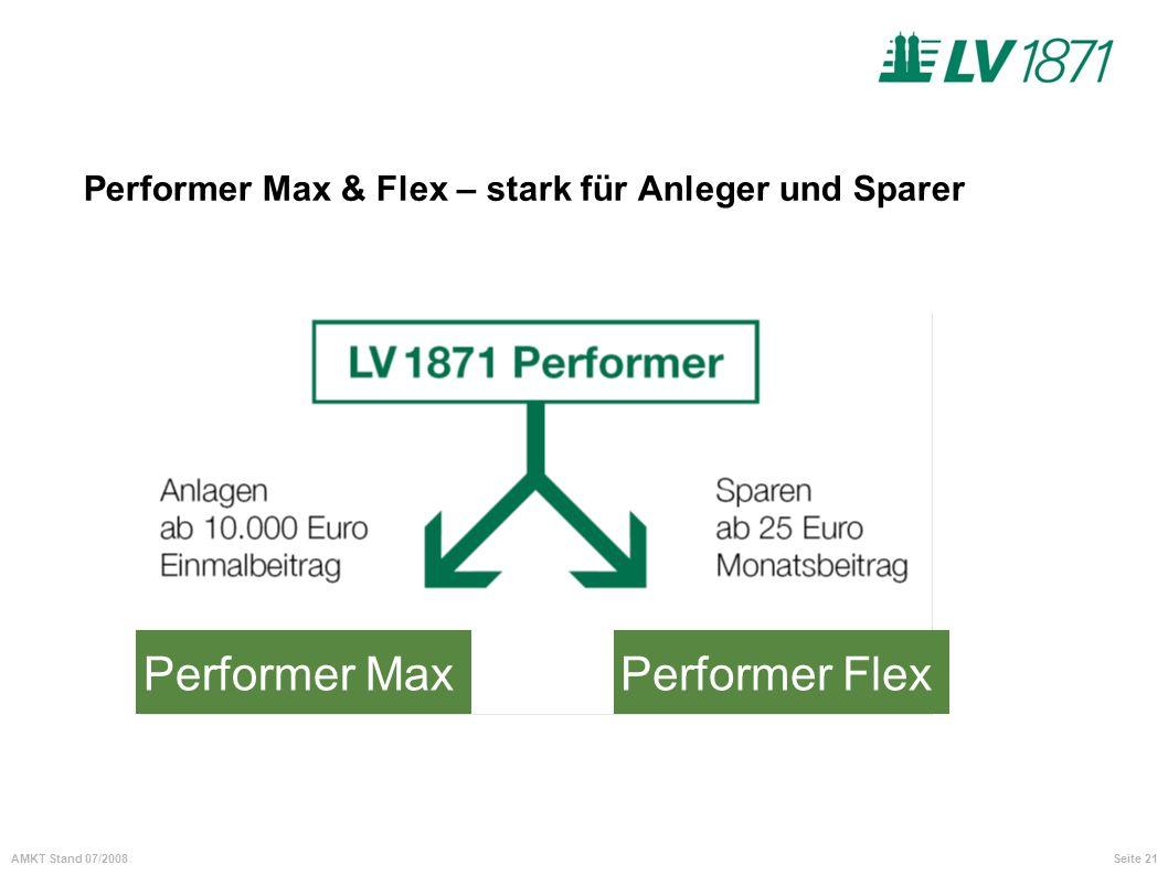 Performer Max & Flex – stark für Anleger und Sparer