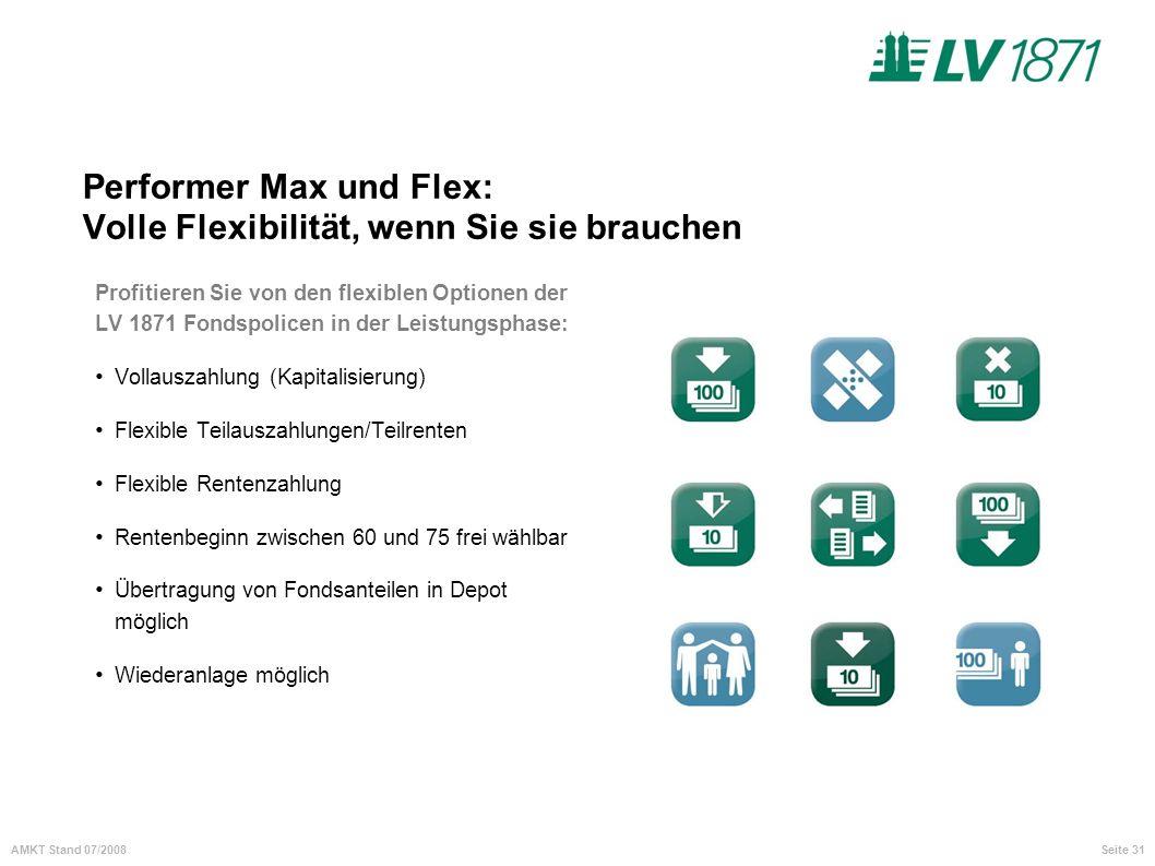 Performer Max und Flex: Volle Flexibilität, wenn Sie sie brauchen