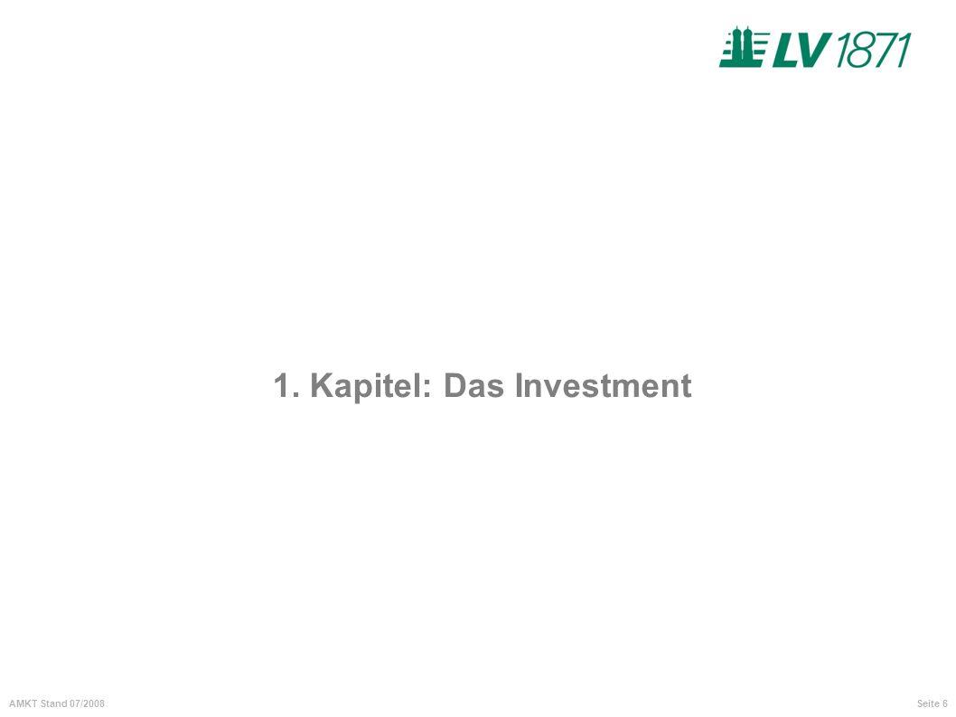 1. Kapitel: Das Investment