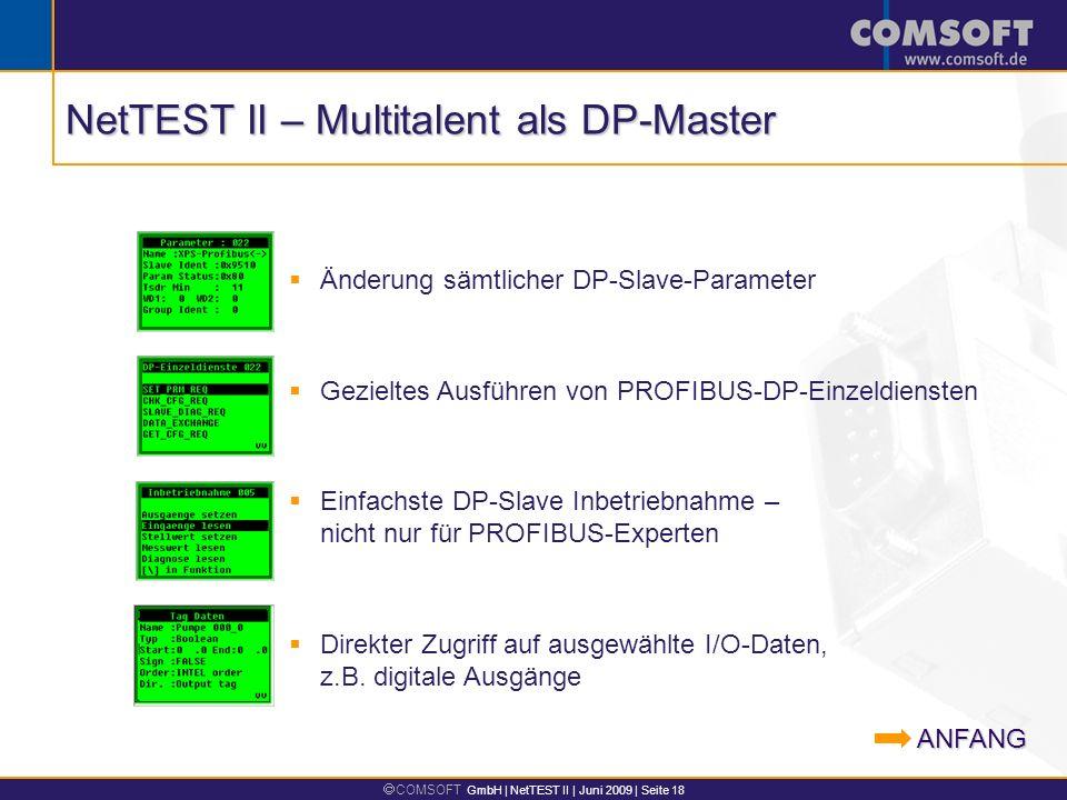 NetTEST II – Multitalent als DP-Master