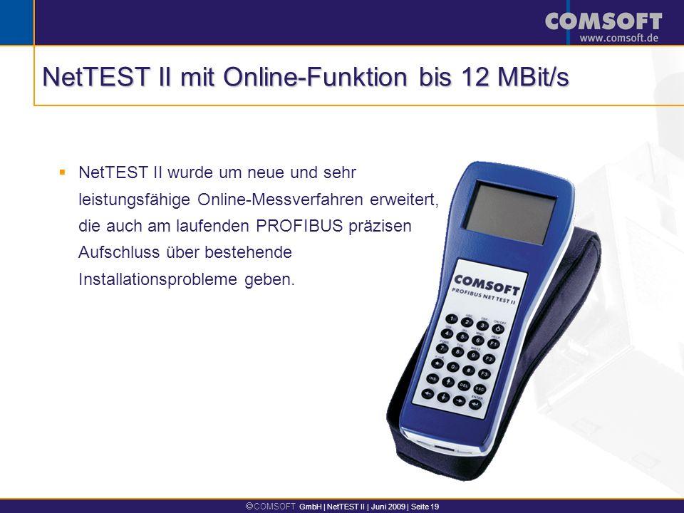 NetTEST II mit Online-Funktion bis 12 MBit/s