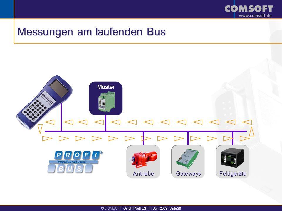 Messungen am laufenden Bus