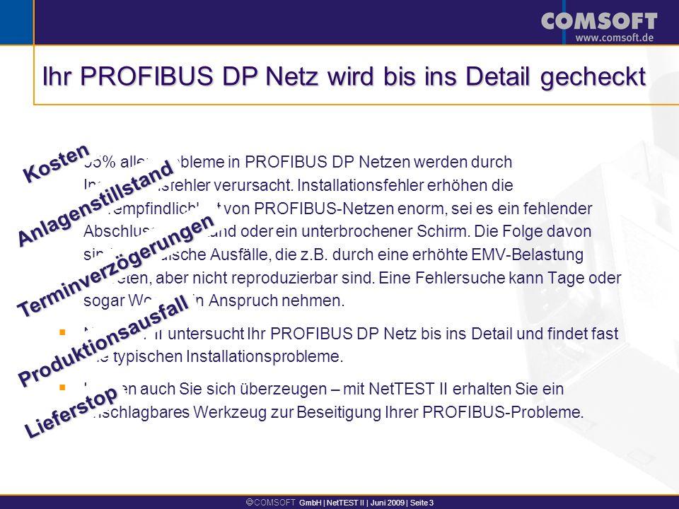 Ihr PROFIBUS DP Netz wird bis ins Detail gecheckt