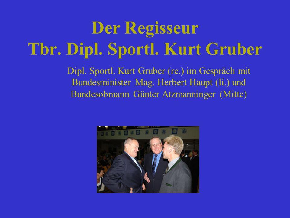 Der Regisseur Tbr. Dipl. Sportl. Kurt Gruber