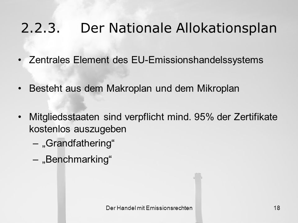 2.2.3. Der Nationale Allokationsplan