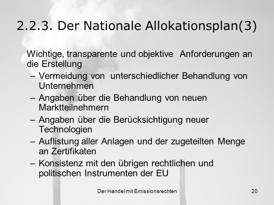 2.2.3. Der Nationale Allokationsplan(3)