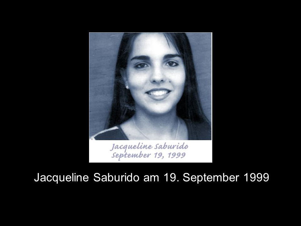 Jacqueline Saburido am 19. September 1999