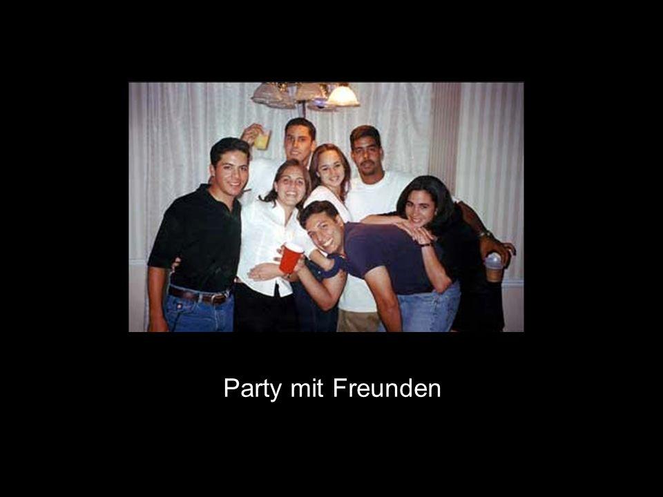 Party mit Freunden