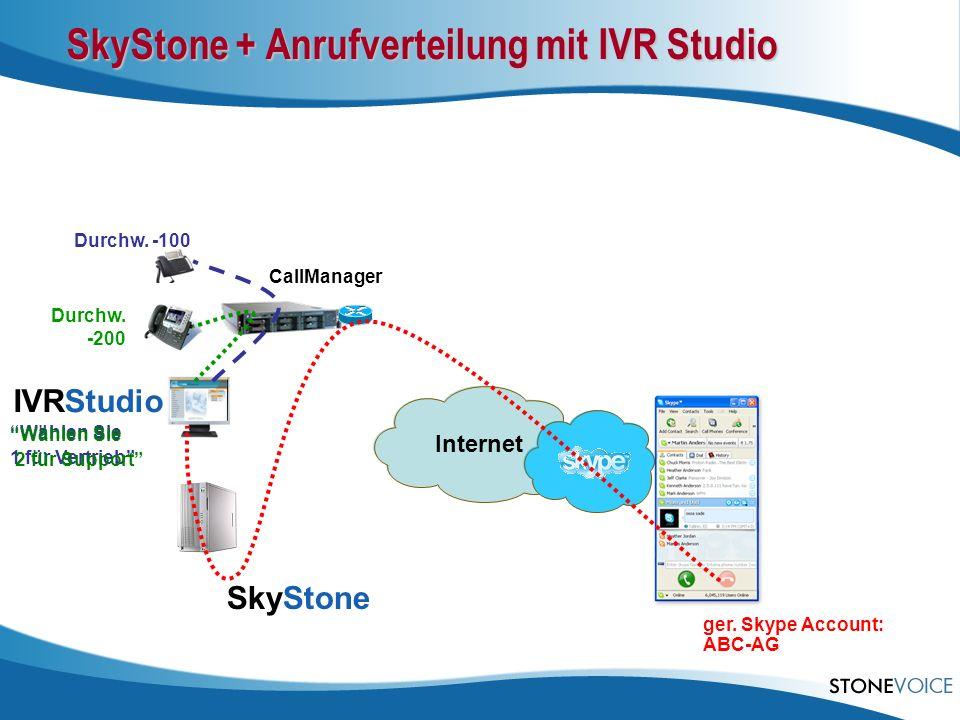 SkyStone + Anrufverteilung mit IVR Studio