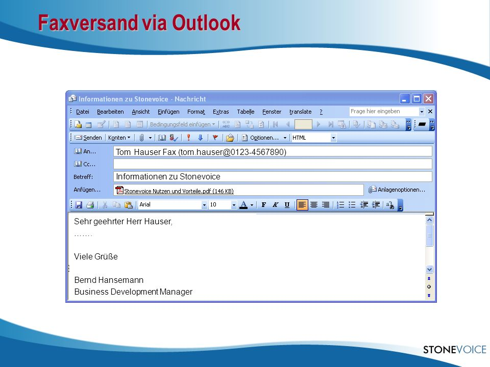Faxversand via Outlook