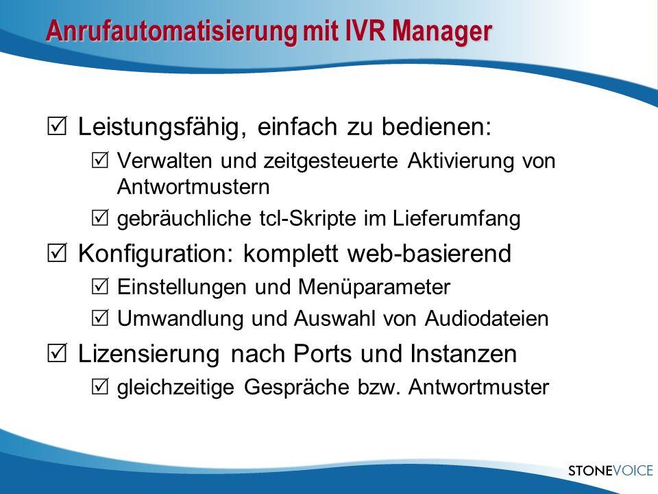 Anrufautomatisierung mit IVR Manager