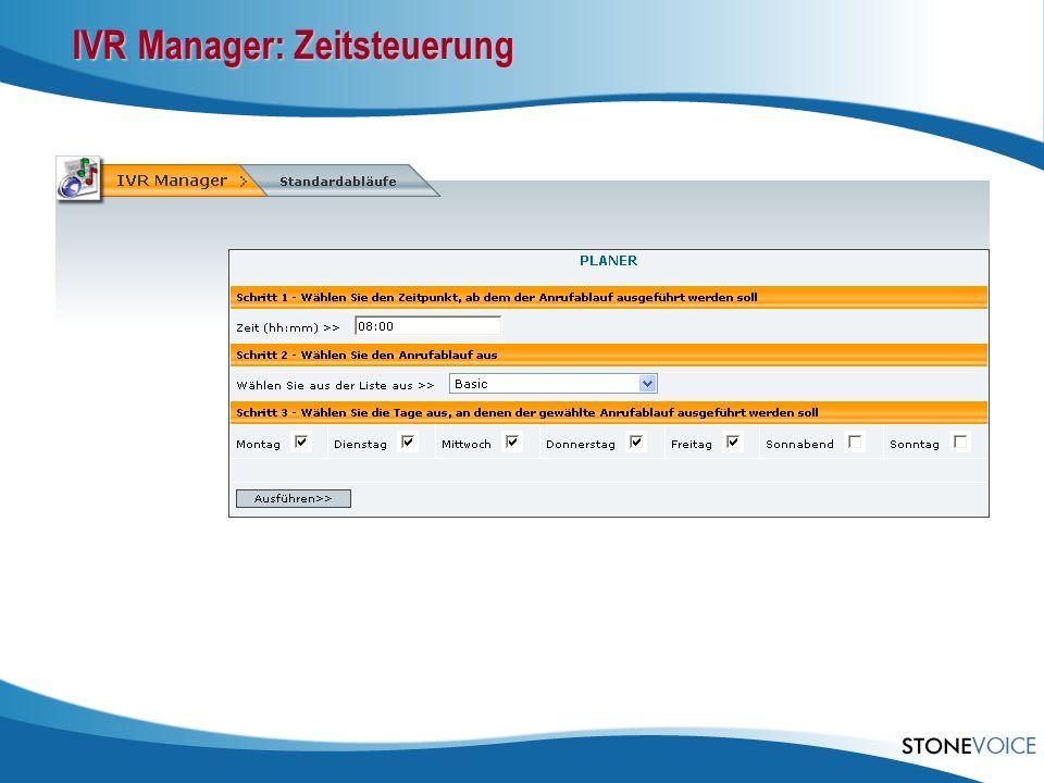 IVR Manager: Zeitsteuerung