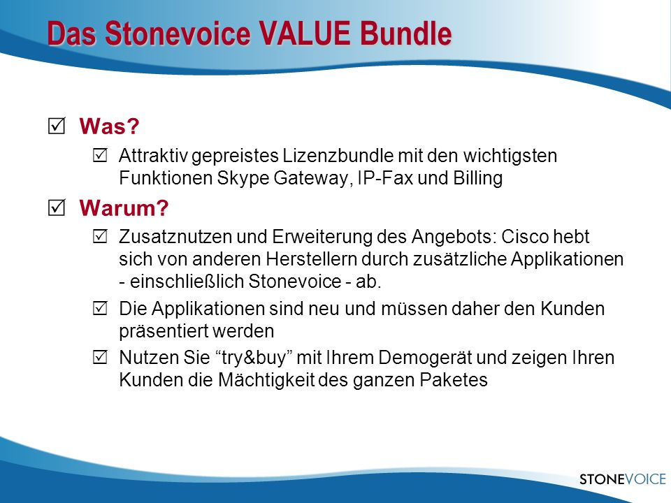 Das Stonevoice VALUE Bundle
