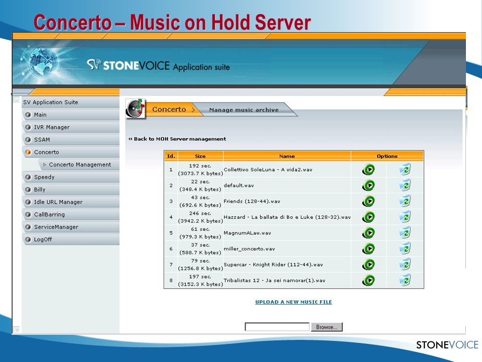 Concerto – Music on Hold Server