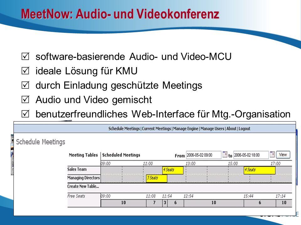 MeetNow: Audio- und Videokonferenz