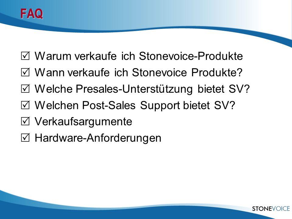 FAQ Warum verkaufe ich Stonevoice-Produkte