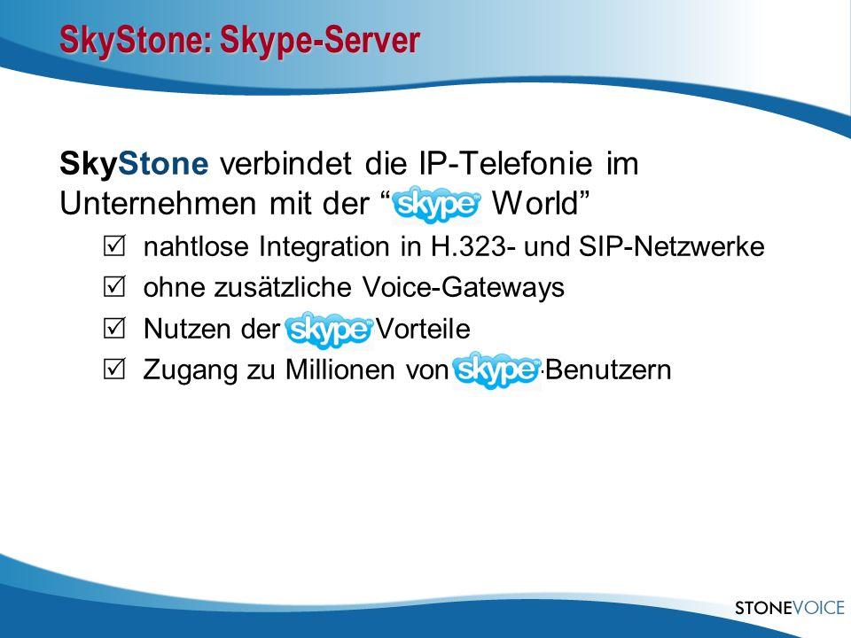 SkyStone: Skype-Server