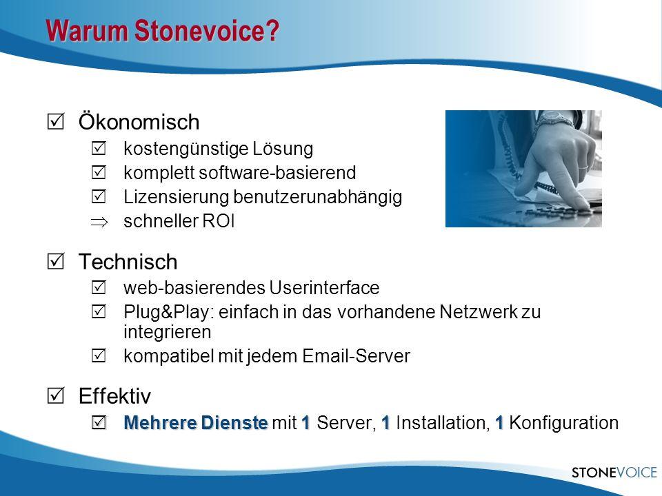Warum Stonevoice Ökonomisch Technisch Effektiv kostengünstige Lösung