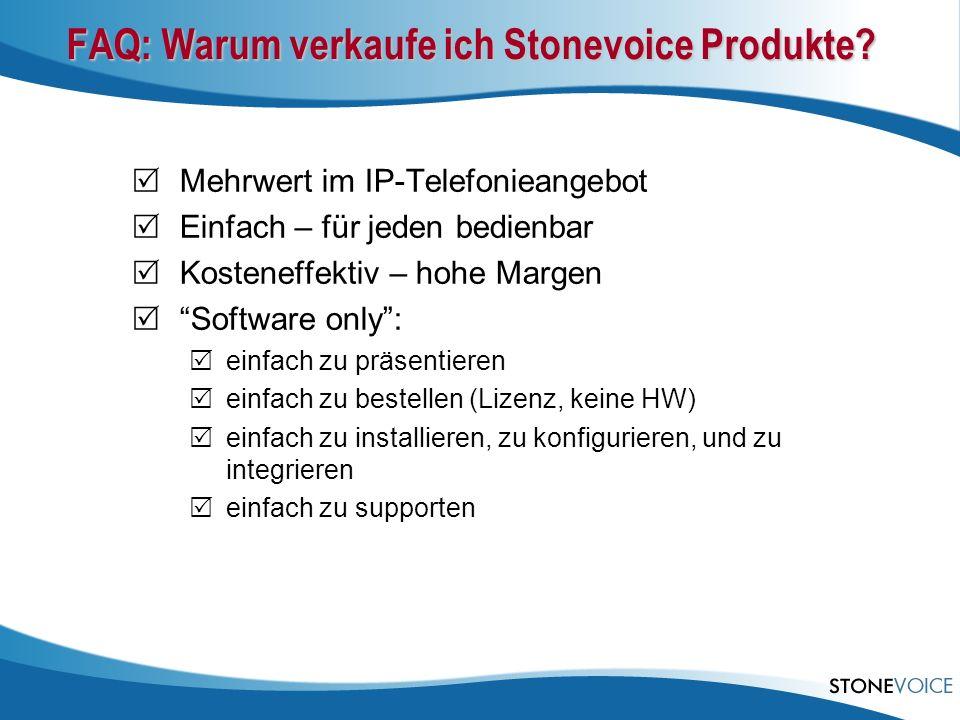 FAQ: Warum verkaufe ich Stonevoice Produkte