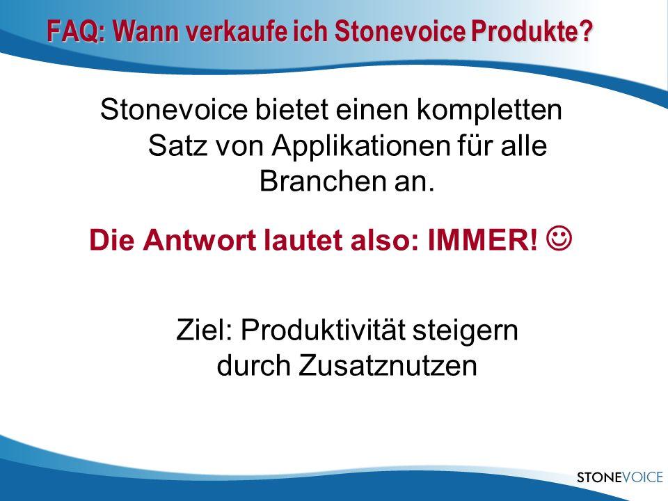 FAQ: Wann verkaufe ich Stonevoice Produkte