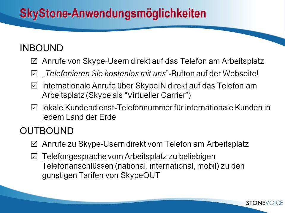 SkyStone-Anwendungsmöglichkeiten