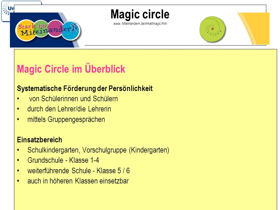 Magic circle www. Miteinandern.de/inhaltmagic.htm