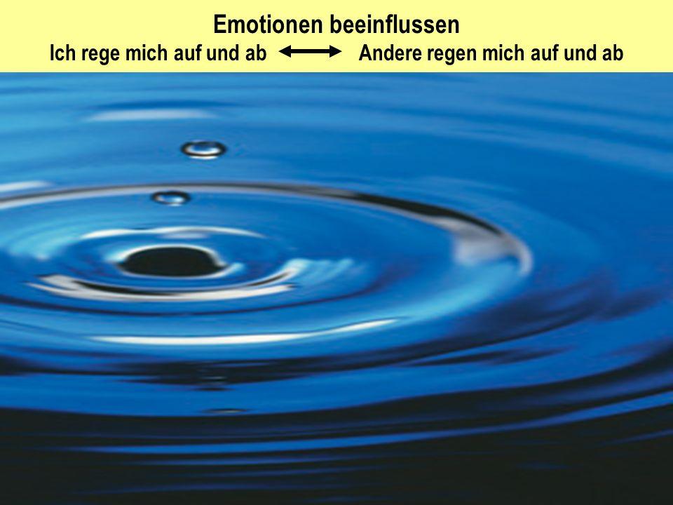 Emotionen beeinflussen Ich rege mich auf und ab Andere regen mich auf und ab