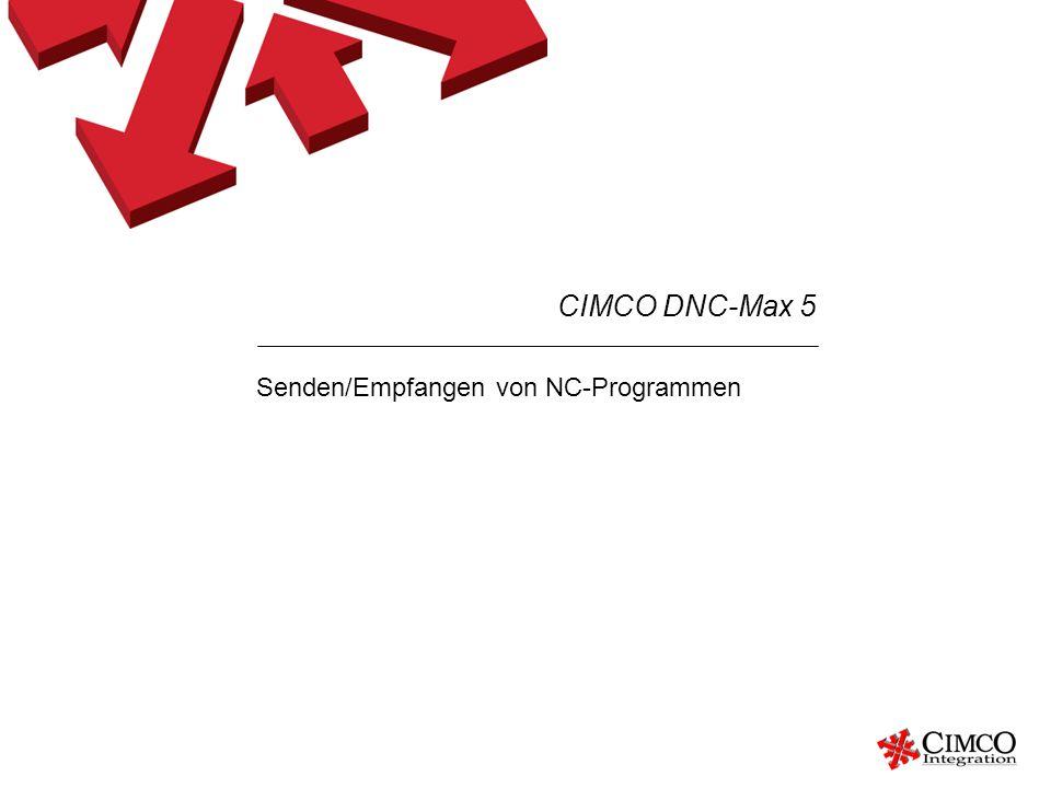 Senden/Empfangen von NC-Programmen