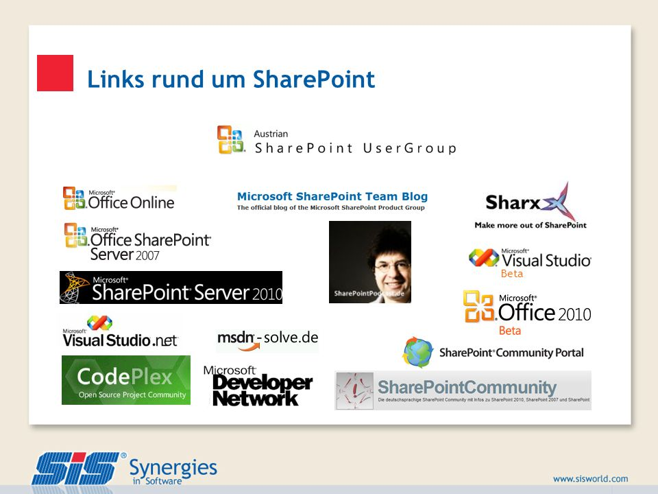 Links rund um SharePoint