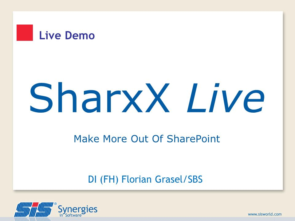 SharxX Live Live Demo Make More Out Of SharePoint